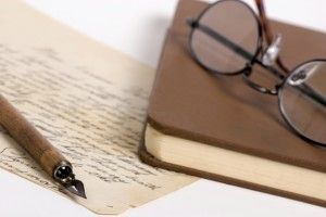 Letter with pen and glasses 1