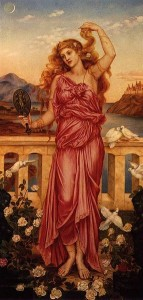 Evelyn de Morgan's 1898 painting Helen of Troy.  Photo courtesy of Wikimedia Commons.