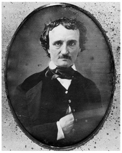 A daguerreotype portrait of Poe.