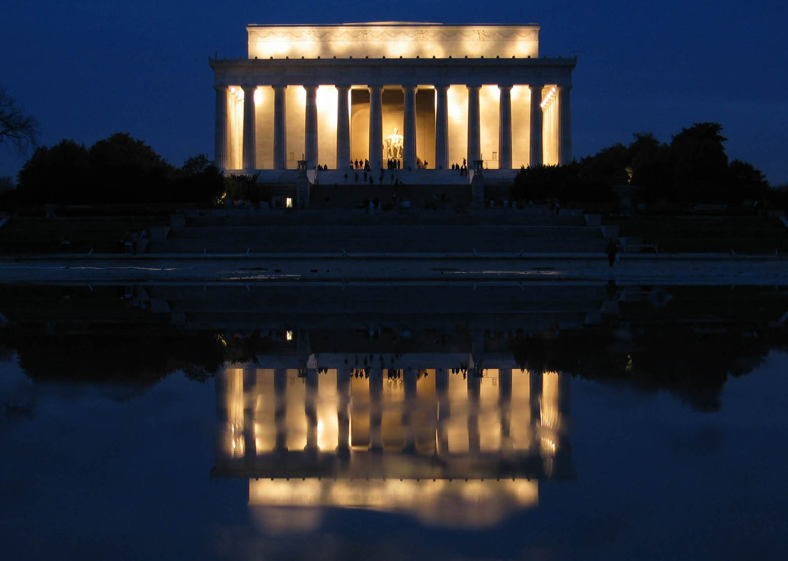 Lincoln in marble by henry hart shenandoah - Reflecting pool ...